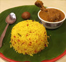 Pulao & Chicken Curry Thali